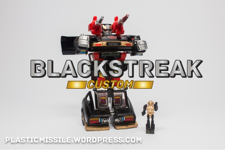 G1 BLACKSTREAK - a customized Bluestreak in black and gold